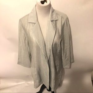 NWT Chico's green jacket size 2